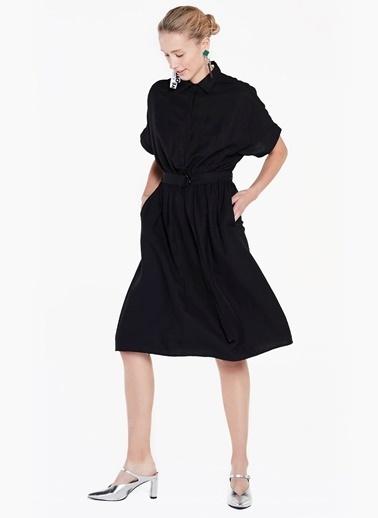Düşük Kol Kemerli Elbise-Twist